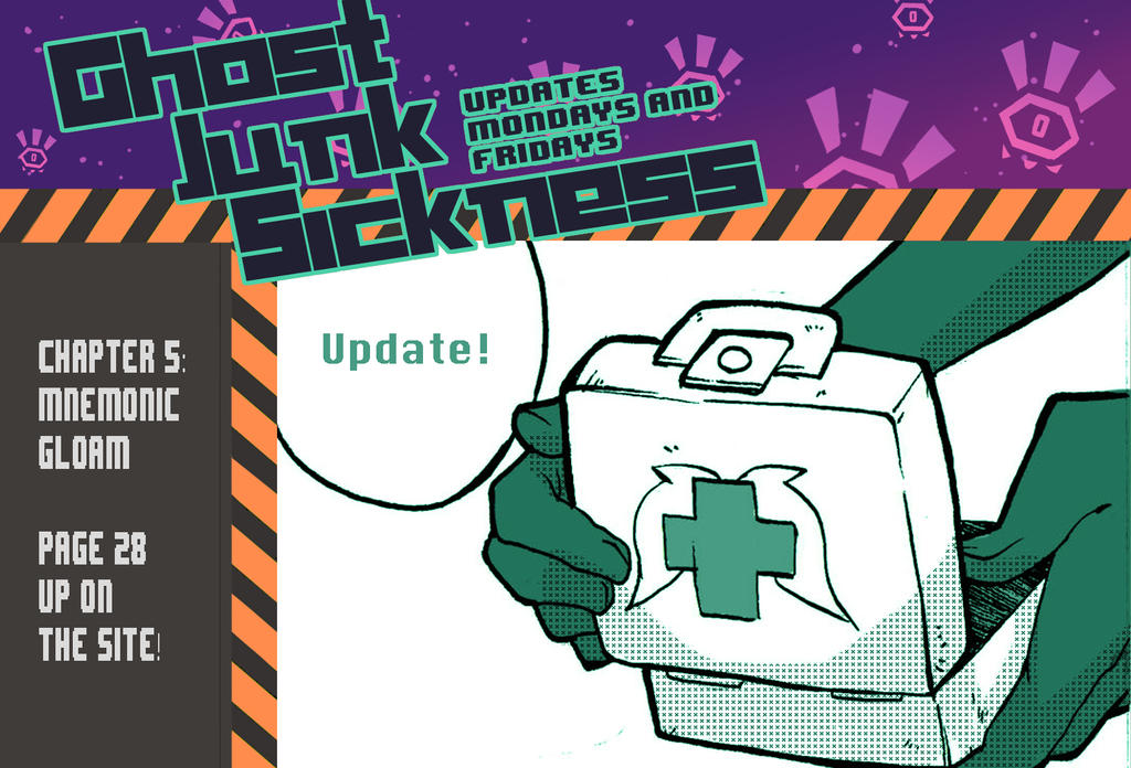Ghost Junk Sickness: CH5--page 28 update! by spacerocketbunny