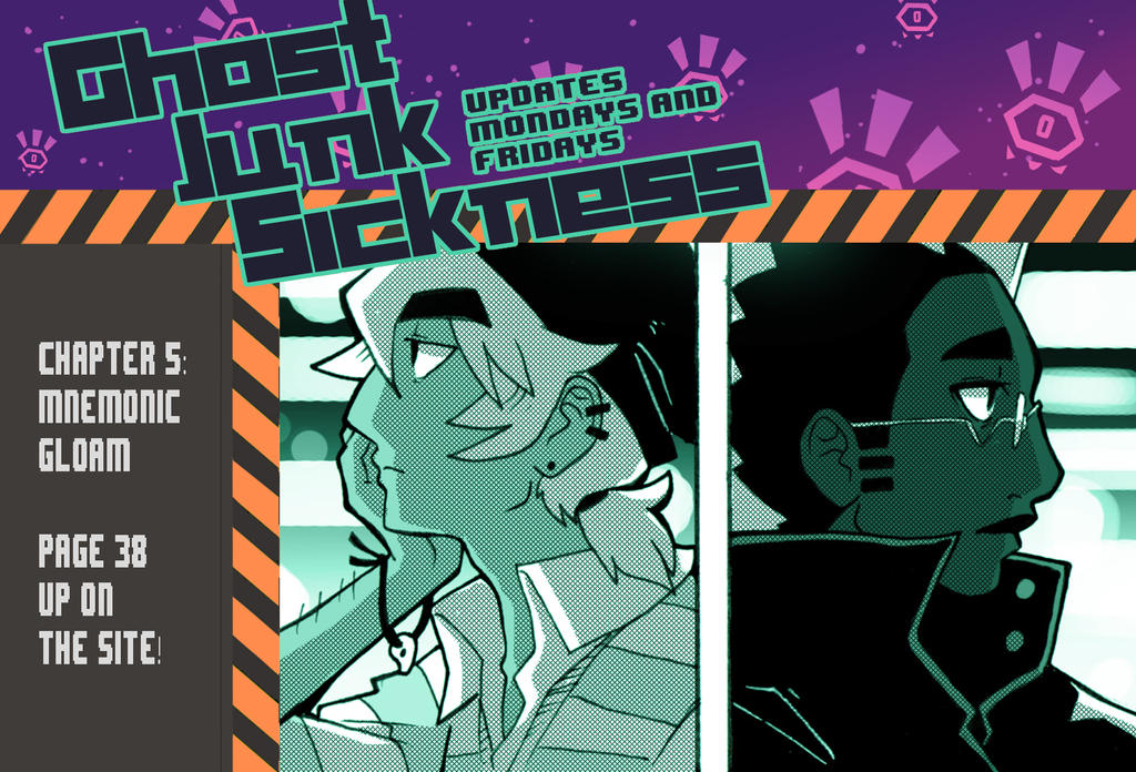 Ghost Junk Sickness: CH5--page 38 update! by spacerocketbunny