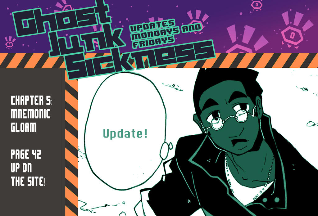 Ghost Junk Sickness: CH5--page 42 update! by spacerocketbunny
