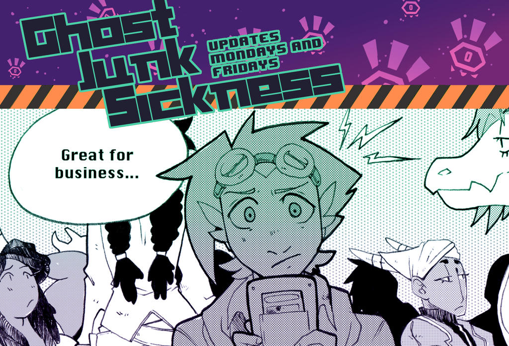 Ghost Junk Sickness CH7-- Page 28 update! by spacerocketbunny