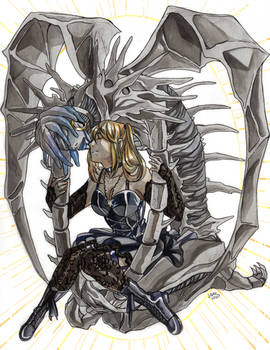 A girl and her death god