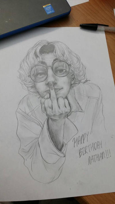 Portrait of my other friend's birthday by animesplocher