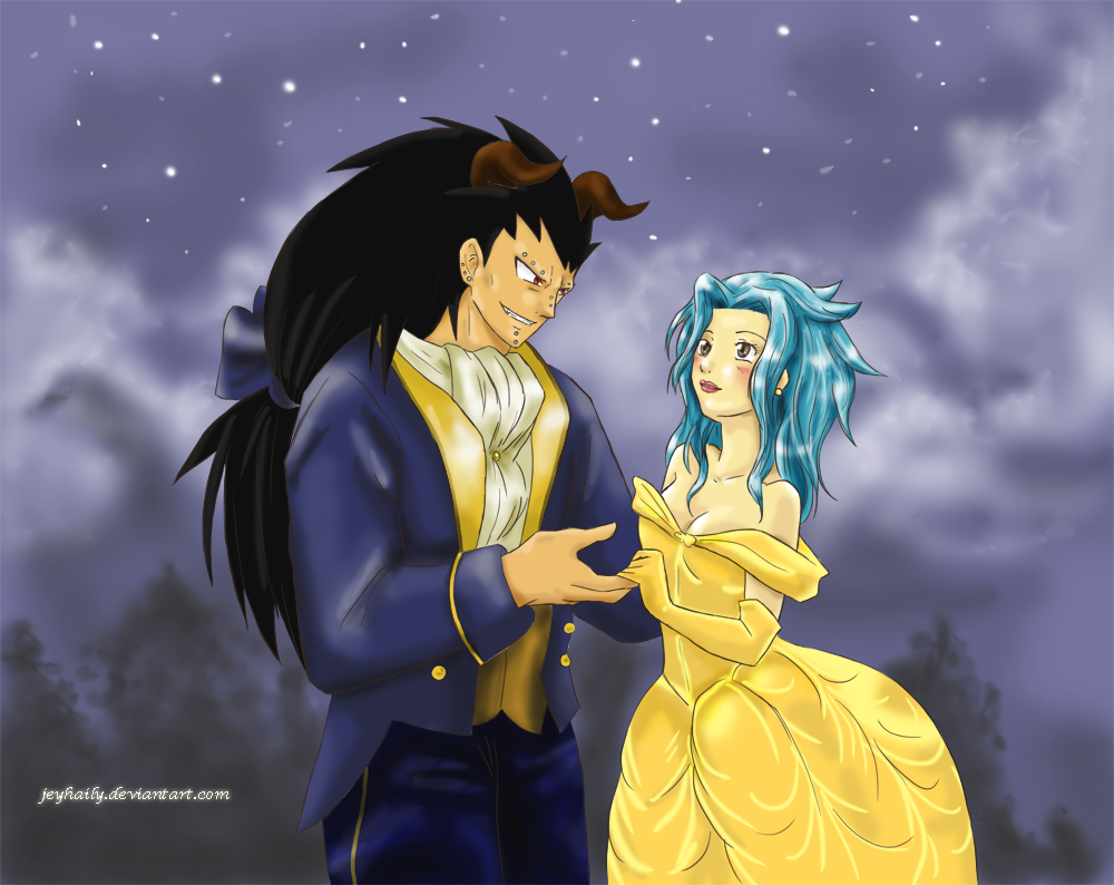 fairy tail   beauty and the beast by jeyhaily on deviantart