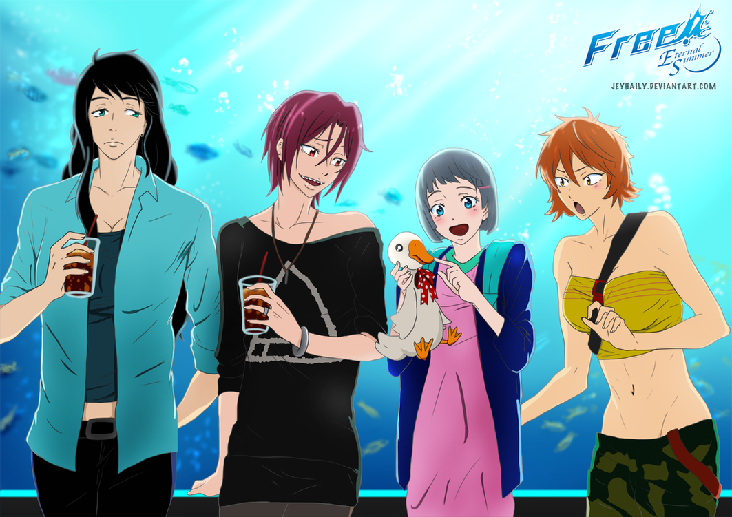 Free! Female version - Samezuka by JeyHaily