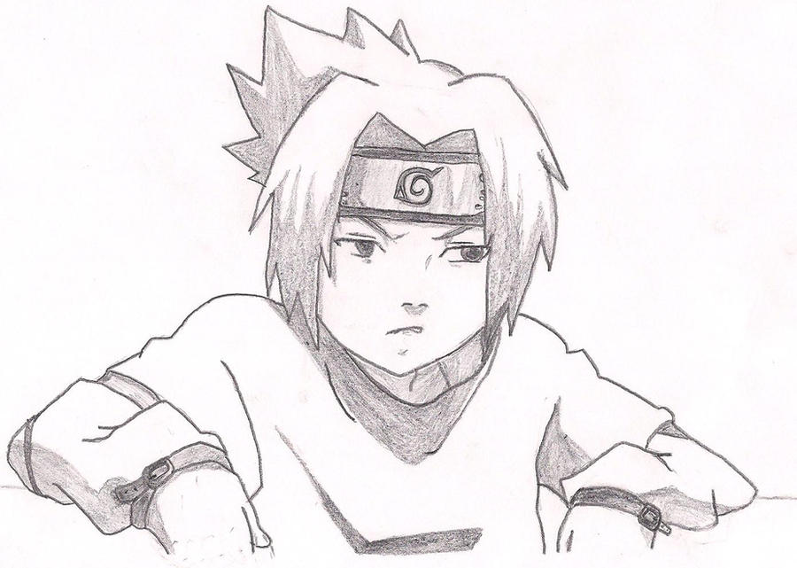 Easy D Line Drawings : Sasuke relax by sizzlac on deviantart