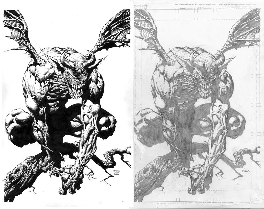 Nix inks over finch pencils by skeetnix on deviantart for Finch coloring page
