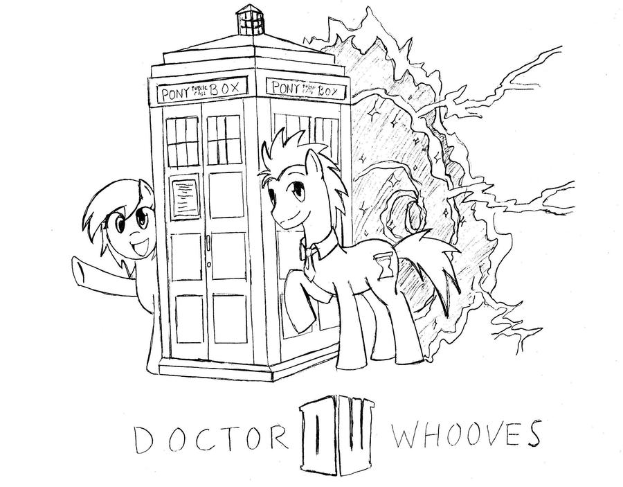 Doctor whooves and derpy by mrmeow meow on deviantart for Derpy hooves coloring pages