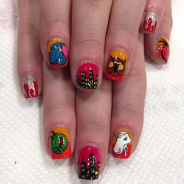 Hotline Miami by RaqstarNails on DeviantArt