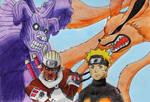 Killer Bee+Eight T. VS Naruto Uzumaki+Nine T.