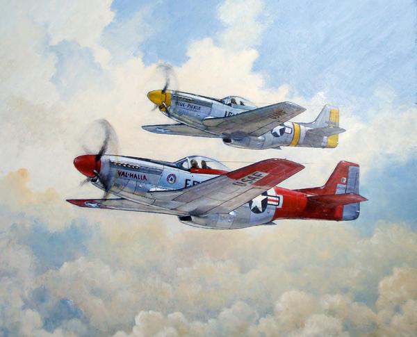 P 51 Mustang Art P-51 Mustang by temma2...