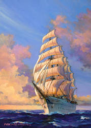 Sailing Ship -A day of bright- by temma22