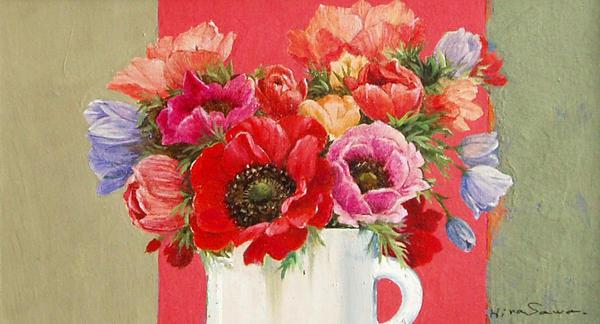 Flower in oils by temma22