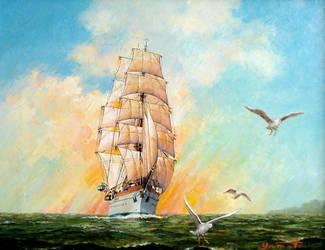 Sailing Ship -Gorch Fock- by temma22