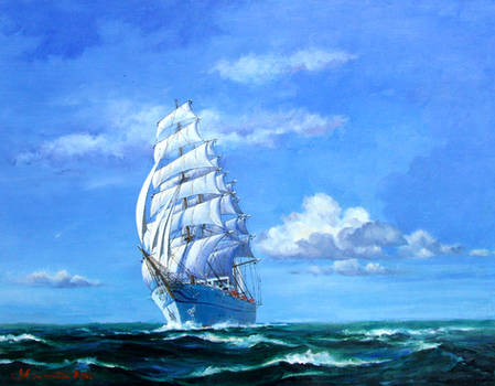 Sailing Ship -Blue Sky 2-
