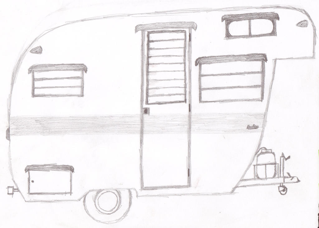 21 Beautiful Camper Trailer Drawing fakrubcom