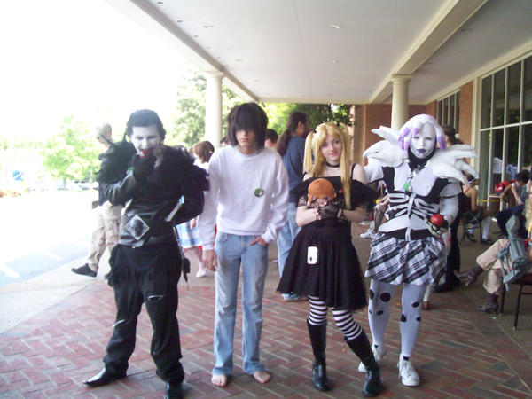 Ryuk, L, Misa, and Rem Cosplay by MidnightEos on DeviantArt