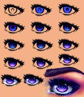 Blue Anime Eyes Tutorial