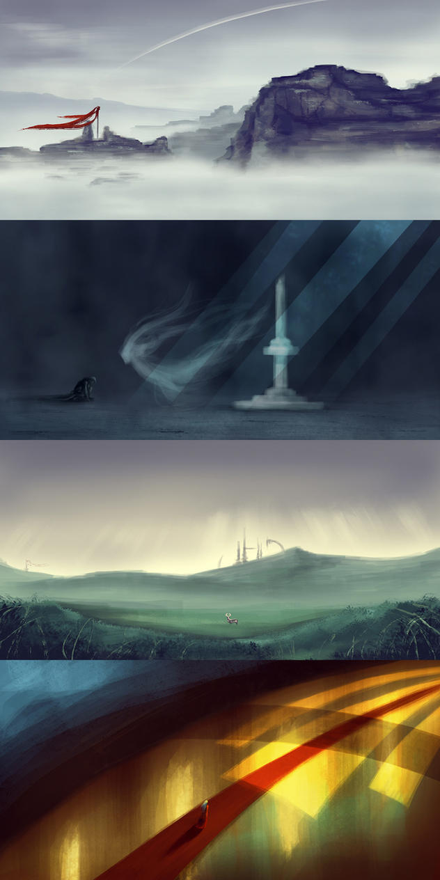 Concept Speedpaints by Romantiquated