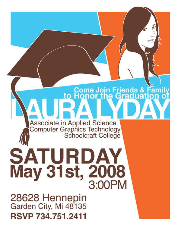 graduation party invitation by kawaiiayu on deviantart
