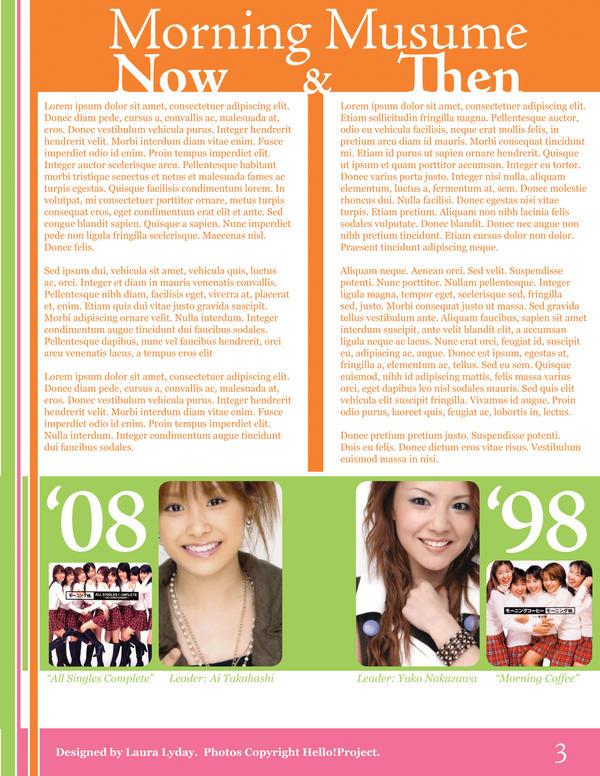Morning Musume Newsletter 3 by KawaiiAyu