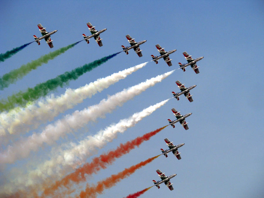 Italian Aerobatics Team by Conchubhair