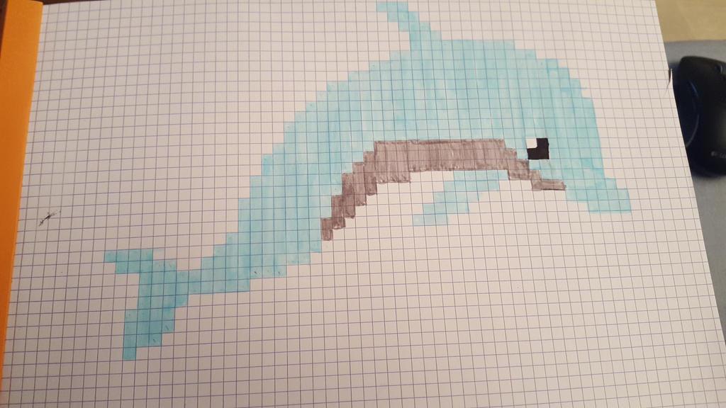 Pixel Art Dauphin Univerthabitat