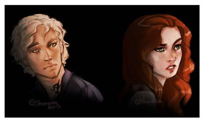 Jace and clary - Shadowhunters by Sharaiza