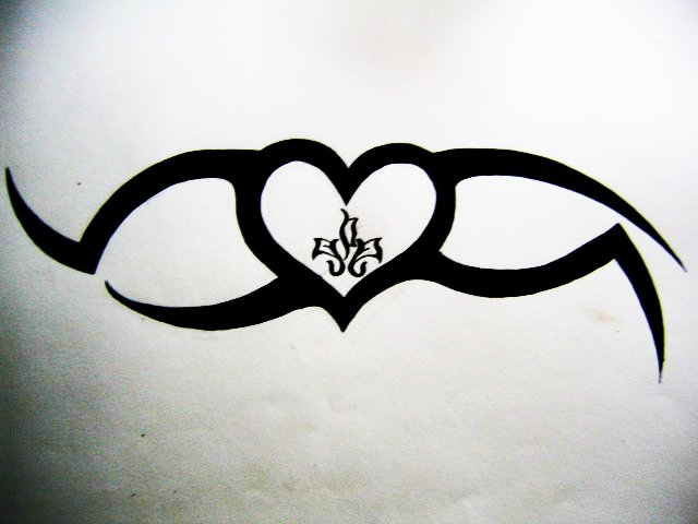 charmed heart tattoo by artestie on deviantart. Black Bedroom Furniture Sets. Home Design Ideas