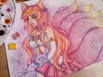 Star Guardian Ahri by LenielSOna