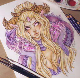 Dragon Sorceress Zyra by LenielSOna