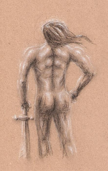 Figure Study 'Barbarian' by Angry-Eyeball
