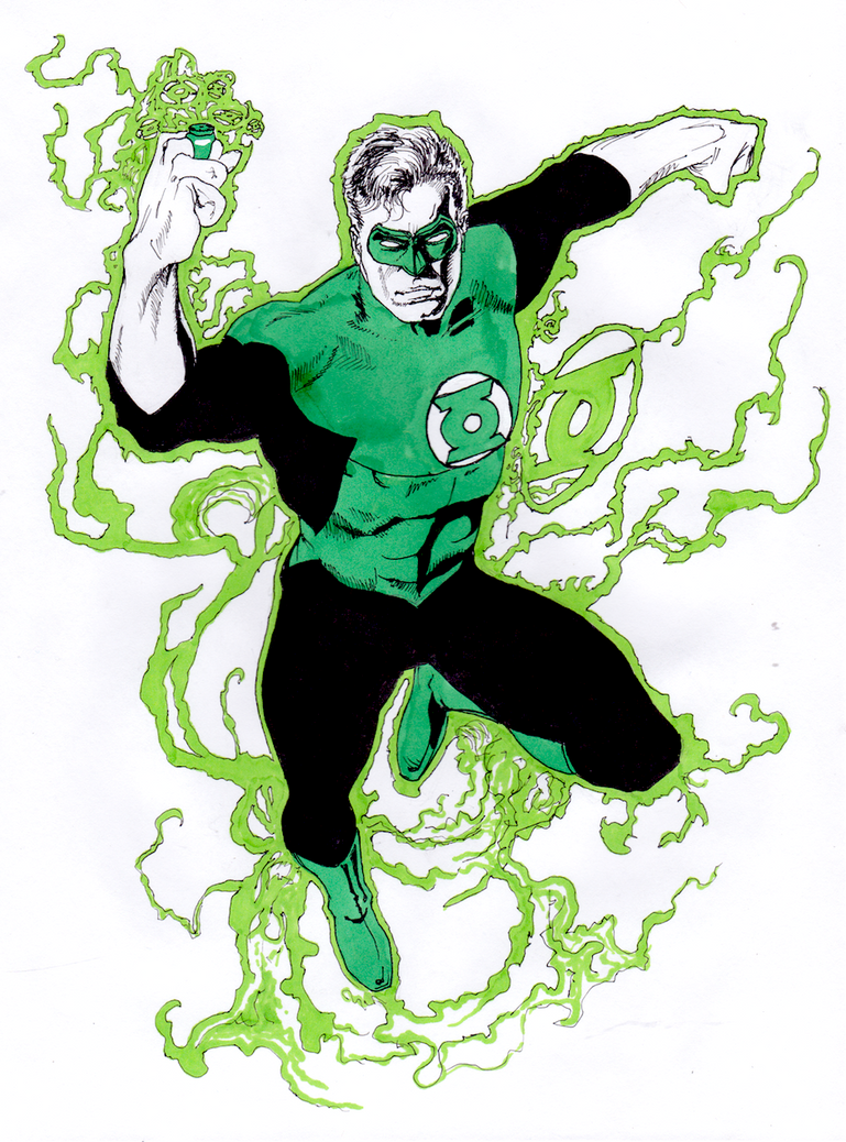 Green Lantern Study by Angry-Eyeball