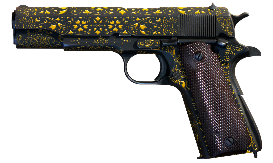 M1911 Gold Leaflet by PatB91