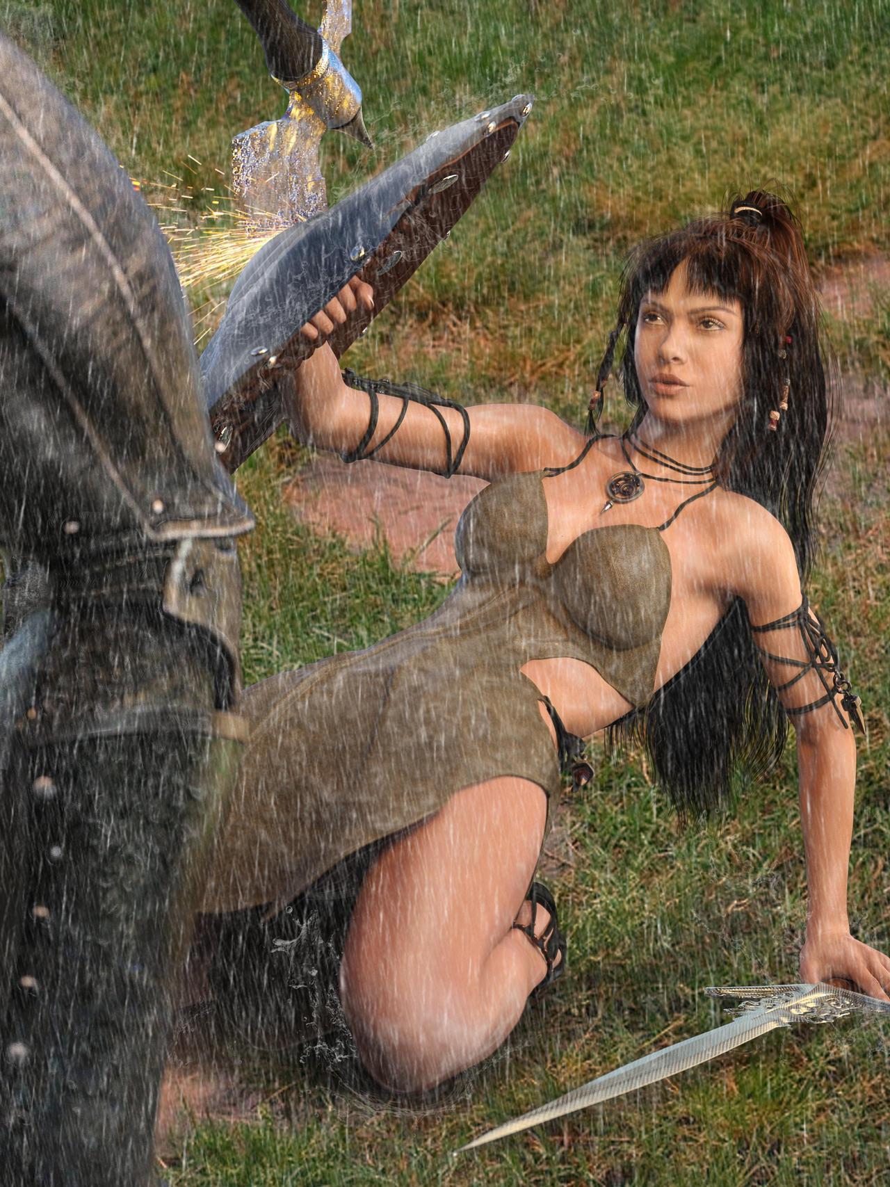 Cleopatra Dragon Rider- fight by Slofkosky