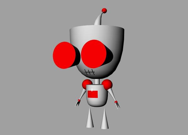 Rhino Red Robot Gir by HinataLove