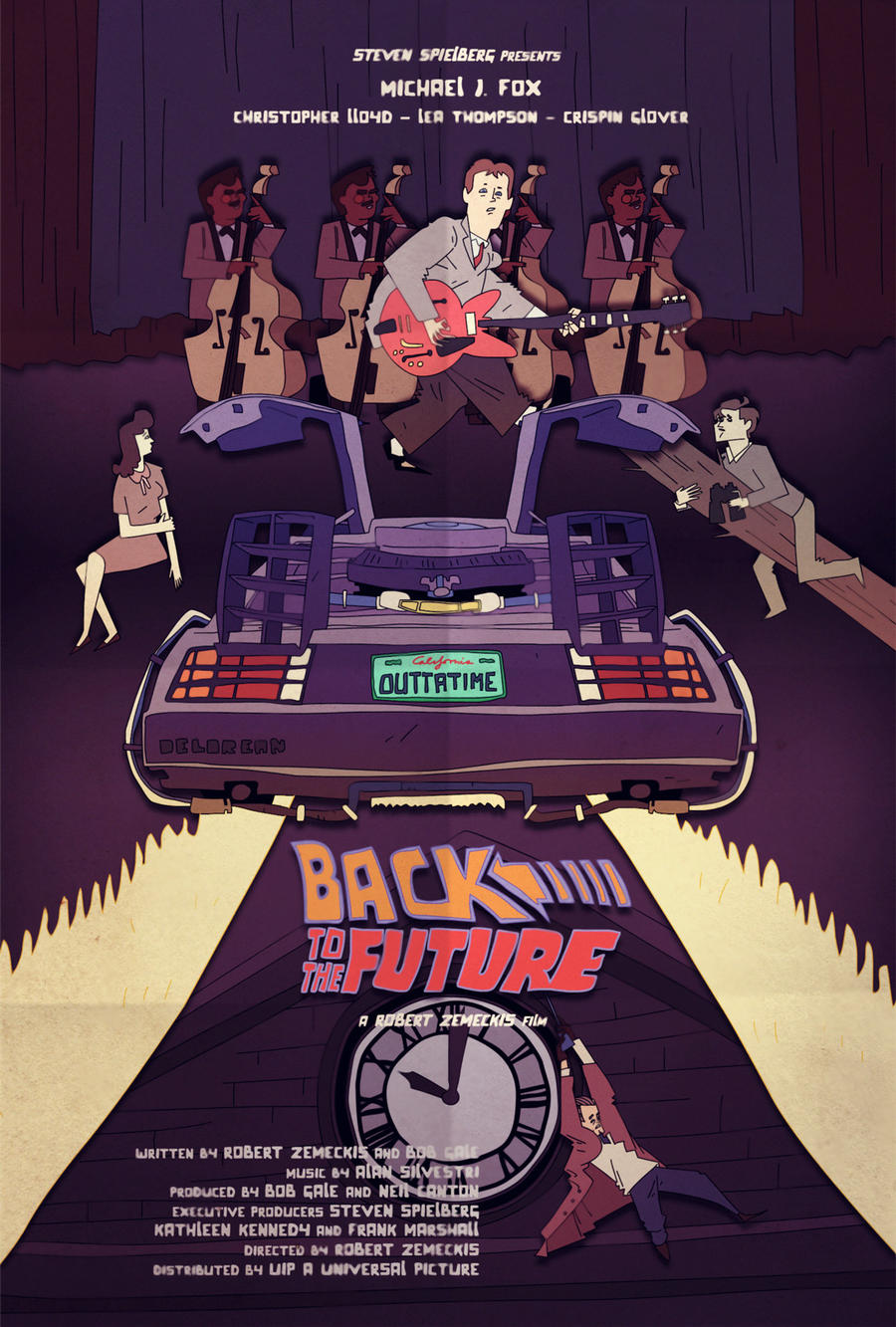 Back to the future fan poster by juhaszmark on deviantart