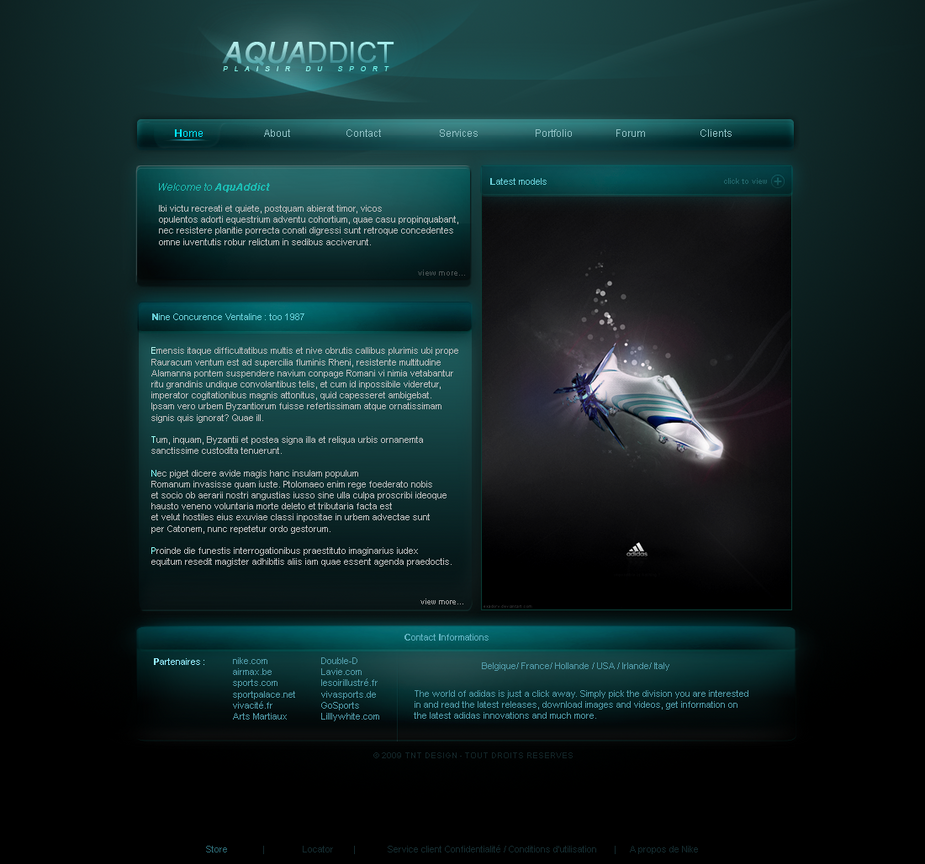 Aquaddict - Design by TNTDesign