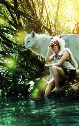 Mononoke and Wolf