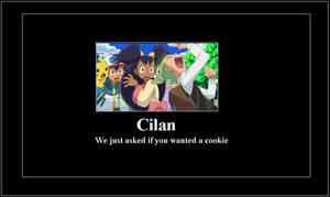 Overexcited Cilan meme