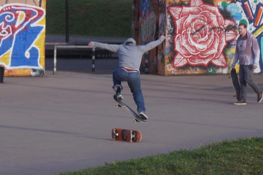Jump - A skater on a skateboard