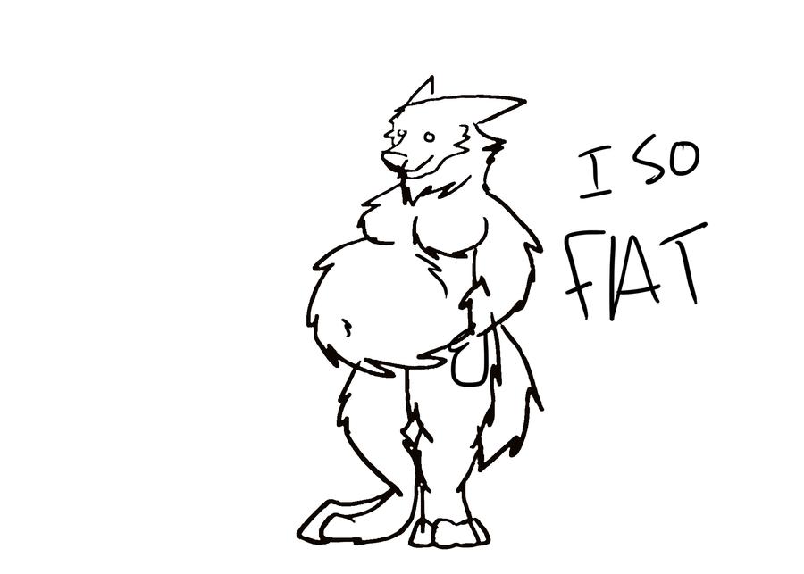 fat werewolf by Panda-child