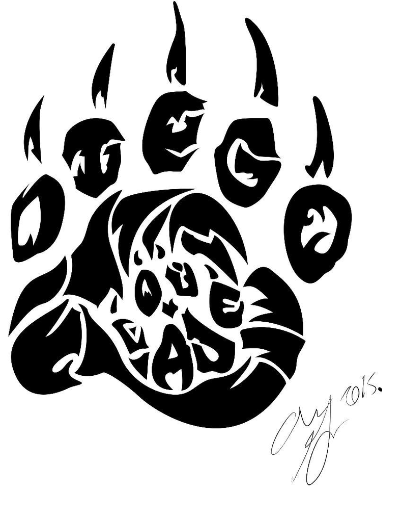 Tribal Paw By Panda Child On Deviantart