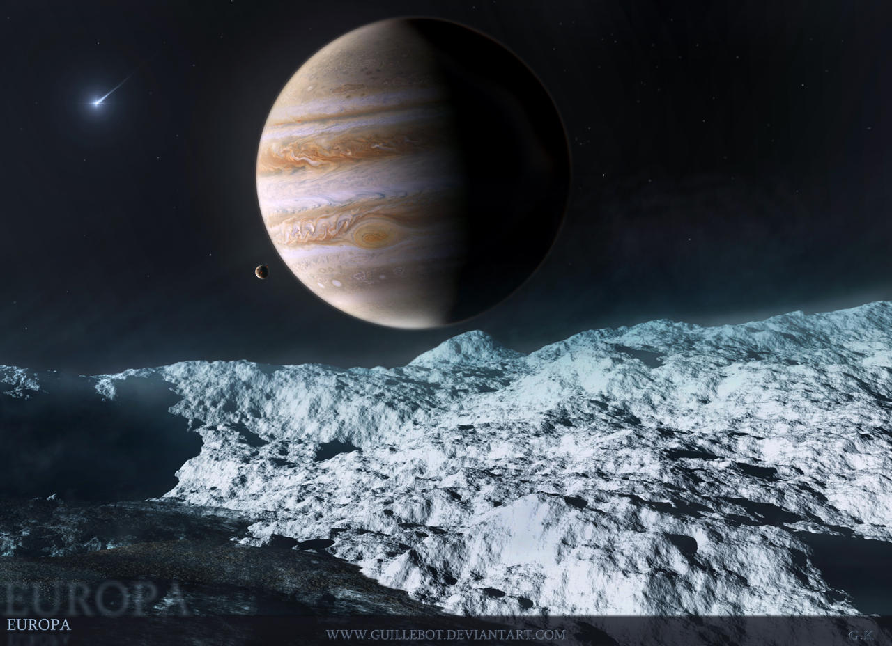 EUROPA  Jupiters Moon by GuilleBot