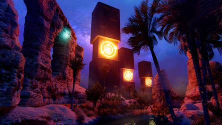 Ancient tech Ruins (night)