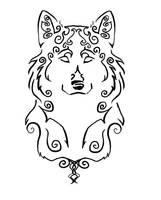 Wind Wolf Tattoo by jenkesh1