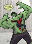 Hulk vs Sticky Bug Man