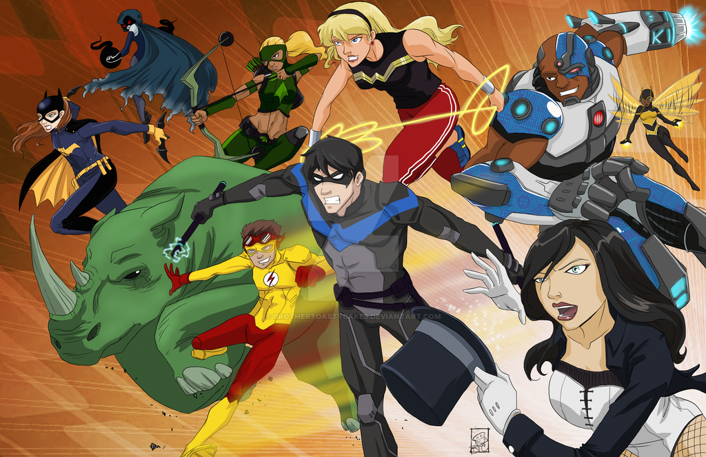 Young Justice - Teen Titans crossoverthing - Part1 by BrotherToastyCakes