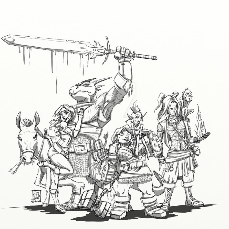 Drunks and Dragons crew by BrotherToastyCakes