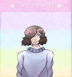 nch // hana flower crown meme