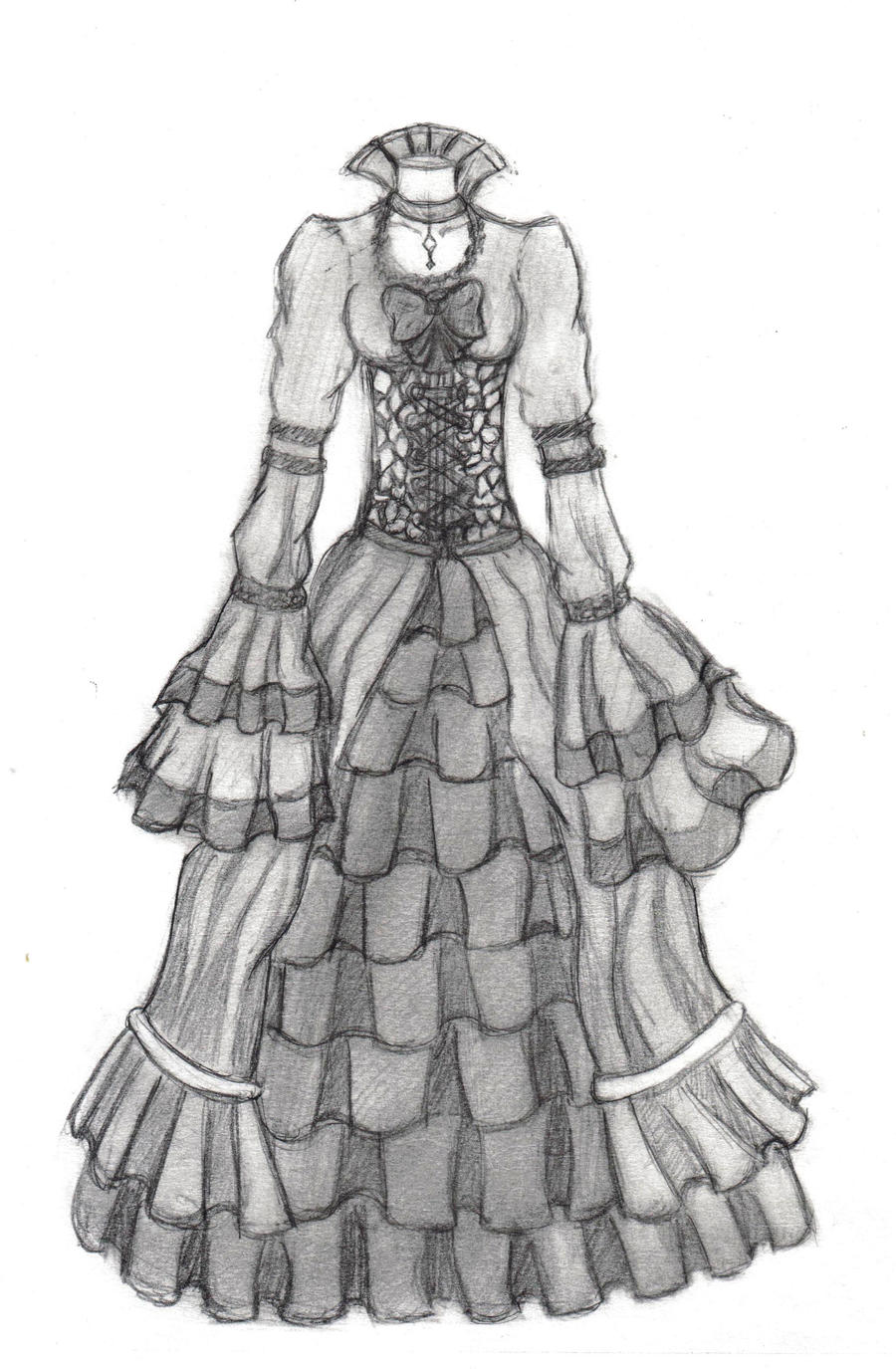 Gothic Dress Design 1 By Red Stained December On Deviantart